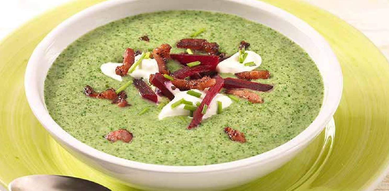 Bylinková pórková krémová polévka
