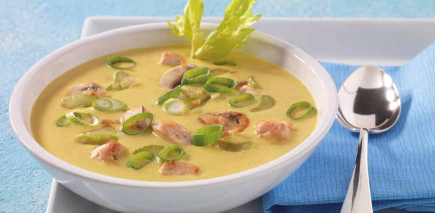 Curry rýžová polévka