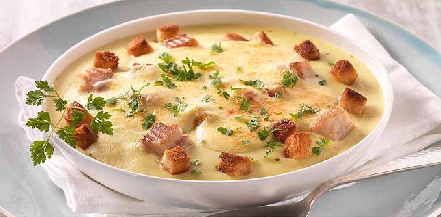 Gratinovaná bramborová polévka