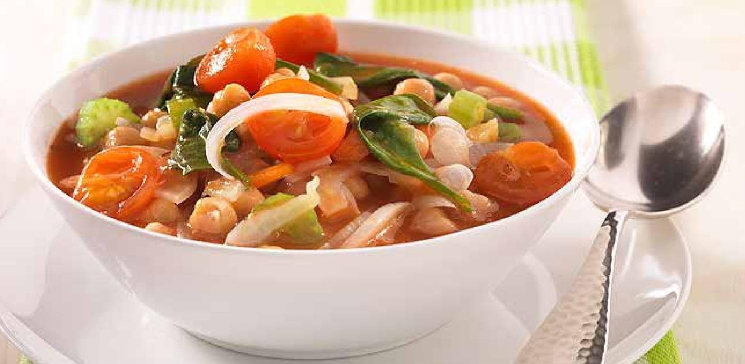 Italská polévka z cizrny