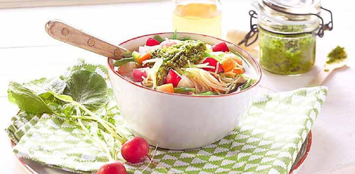 Jarní polévka Minestrone