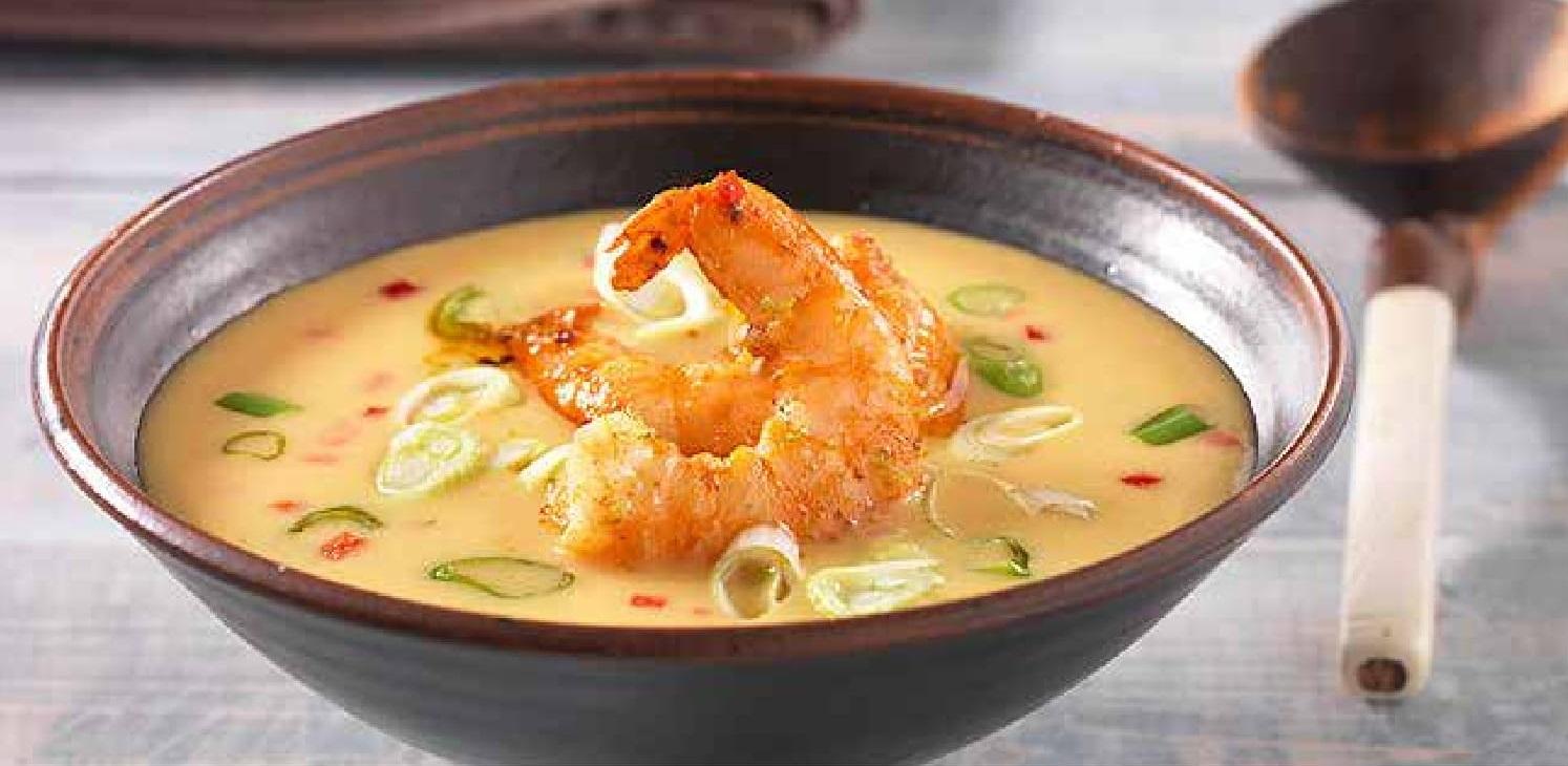 Sladkokyselá polévka s krevetami