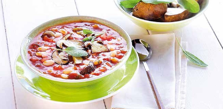 Toskánská polévka s hříbky