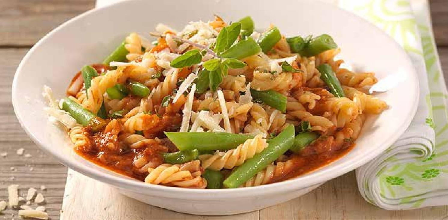 Těstoviny se zelenými fazolkami