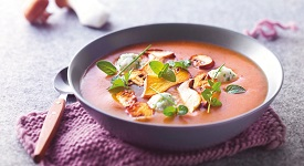 houbova polévka s knedlicky